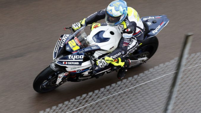 Christian Iddon in action at Donington Park