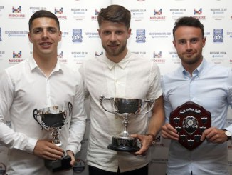 Scott Duxbury, Jason Oswell and Matty Warburton with their awards
