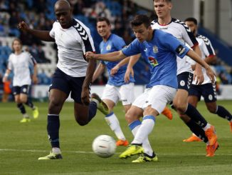 Connor Dimaio. Telford Utd FC 1-1 Stockport County. Vanarama National League North. 15.9.18
