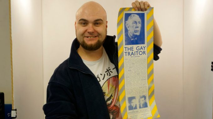 John Neill with the Hacienda poster