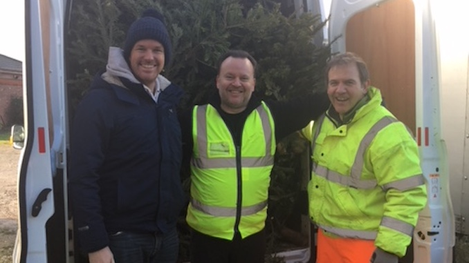 JustHelping Tree Collection l-r Mark Heppell, Nick Hinton, Andrew Smith