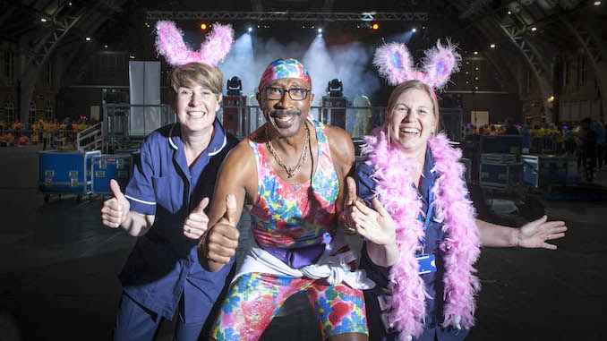 Mr Motivator at the St Ann's Hospice Midnight Walk