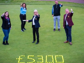 Golfers at Bramall Park Golf Club celebrate their success
