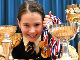 Loreto Preparatory School swimmer Natalia Farr