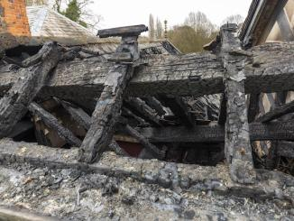 Fire-damaged Wythenshawe Hall (Manchester City Council)