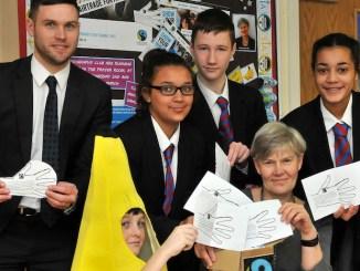 Eoghan Kearney, Brandon Parkinson as a fair trade banana, Aaliyah Kerr, Ethan Stockton and Bella Williams