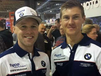 Christian Iddon and team-mate Michael Laverty
