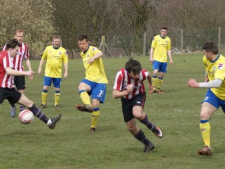 Rochdalians v Mellor (Mellor in red and white stripes,