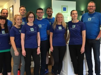 The McHale and Co runners taking part in the St Ann's Hospice Three Peaks Challenge
