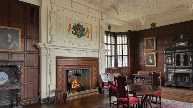 The drawing room at Bramall Hall