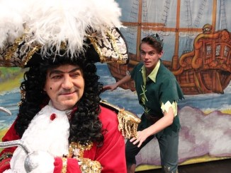 John Altman as Captain Hook in Peter Pan at Stockport Plaza