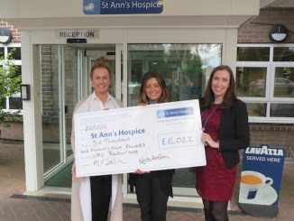 Mary Howley and Amanda O'Sullivan with Helen Laycock, Community Fundraiser at St Ann's Hospice