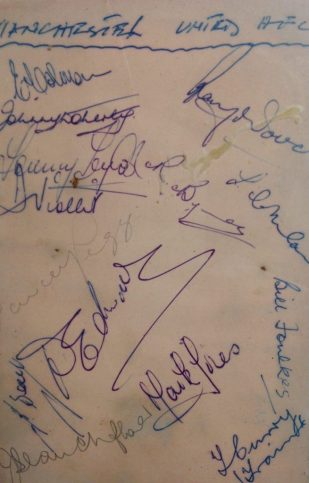 The Busby Babes autographs