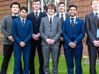 The Manchester Grammar School's Limeng Zhu, Charlie Pozniak, Rupert Mitchell Adib Badri, Mharab Choudhry and Tom Appleby