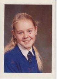 Jo as a pupil at Urmston Grammar School