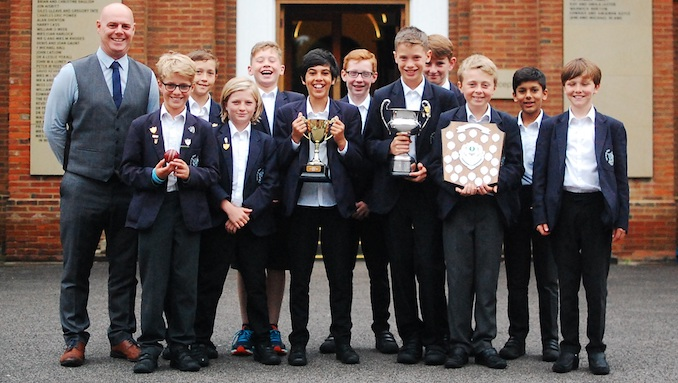 Manchester Grammar School's young cricketers celebrate title treble