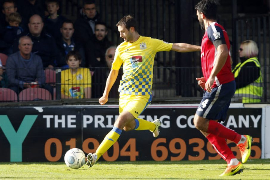 Adam Thomas, York City v Stockport County