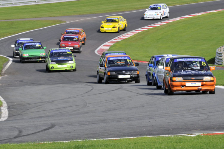 Greg Speight leads the way in XR2's at Oulton Park