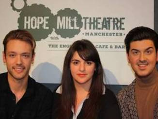 Joseph Houston and William Whelton from Hope Mill Theatre with Katy Lipson