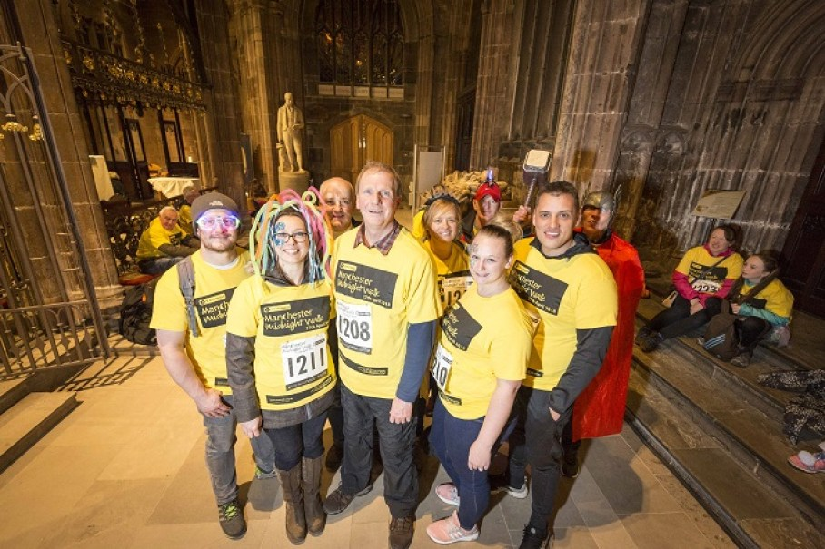 Don Fraser (centre) and Don's Dawdlers inside Manchester Cathedral (pic by Chris Bull)