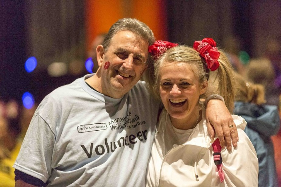 Eamonn O'Neal and Sally Lindsay on the Midnight Walk (pic by Chris Bull)