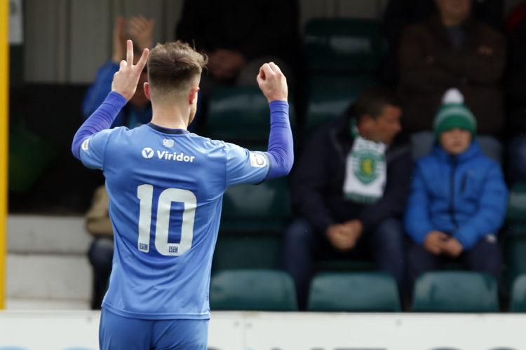 Matty Warburton hit his twentieth goal of the season for County, on Saturday