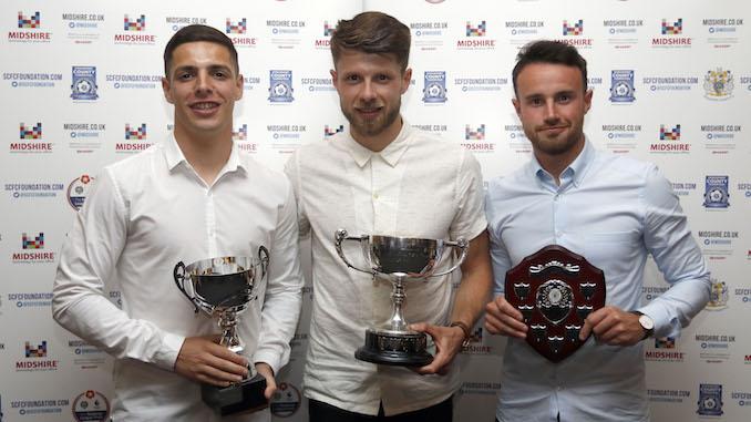 Scott Duxbury, Jason Oswell and Matty Warburton with their awards