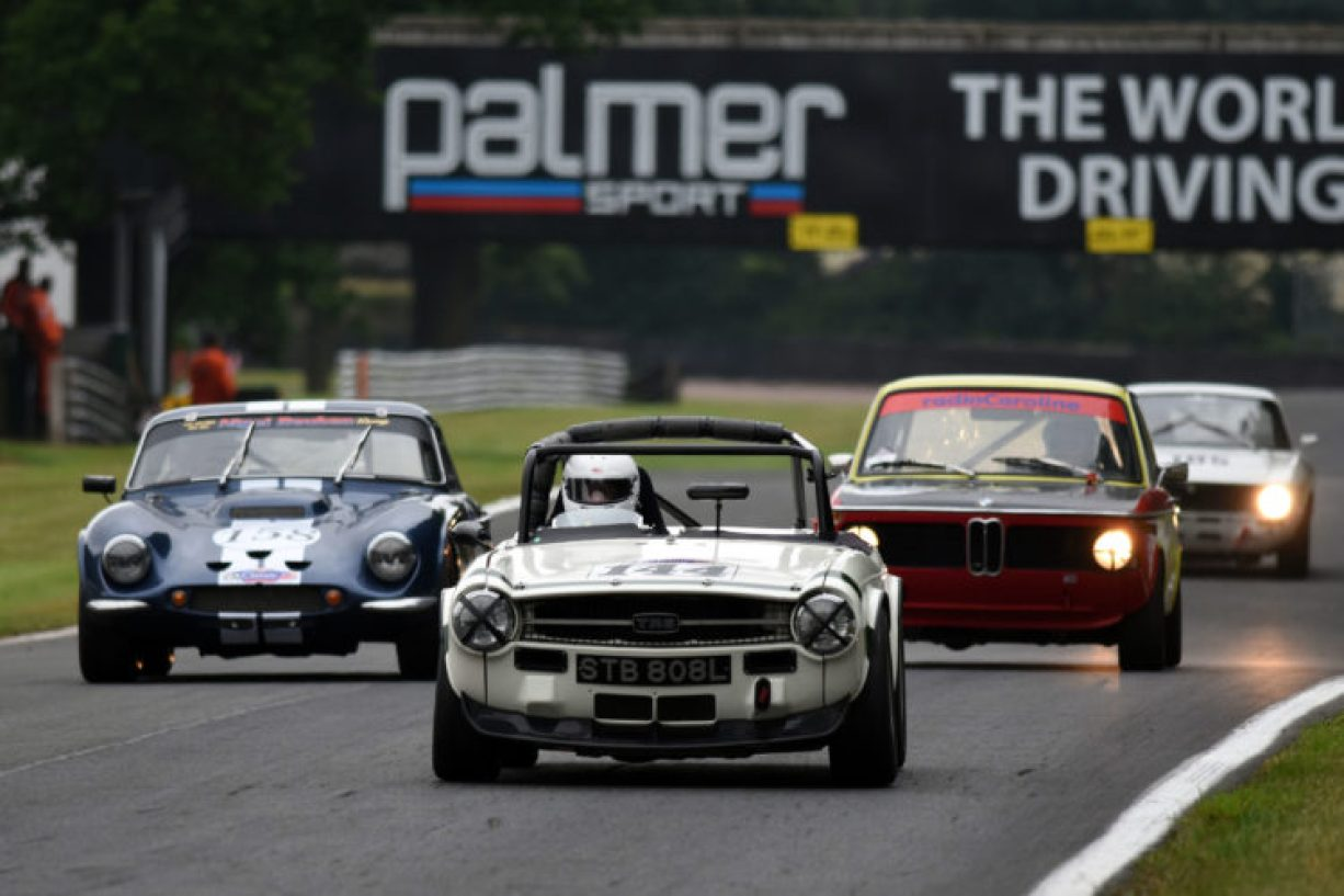 Swinging Sixties racers in action at Oulton Park