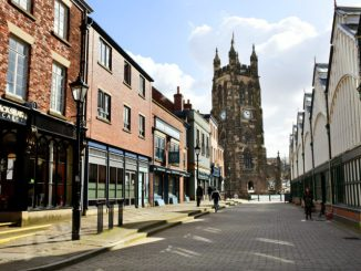 The 2018 front cover photo of Stockport Marketplace by Norman Wall