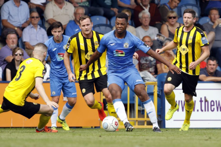 Nyal Bell. Stockport County FC 3-1 Leamington FC