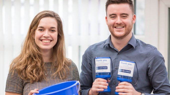 Hospice fundraisers Helen Taylor and Sam O'Reilly