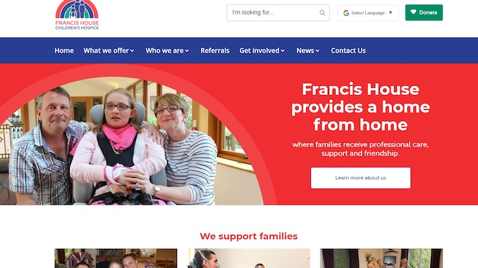 Francis House Children's Hospice launches 'bold' new website