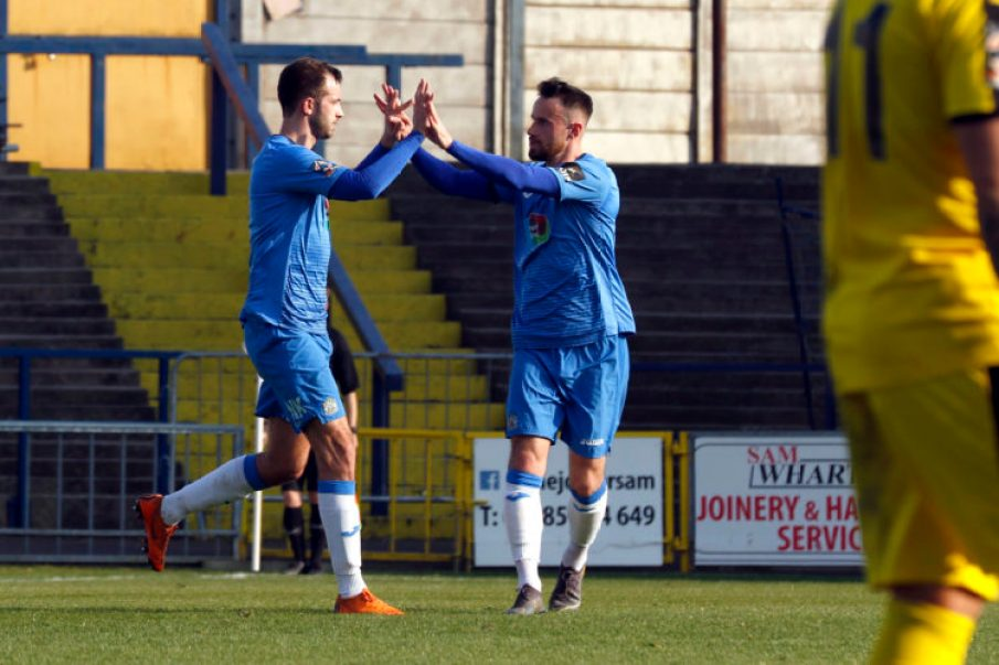 Adam Thomas scores for Stockport County