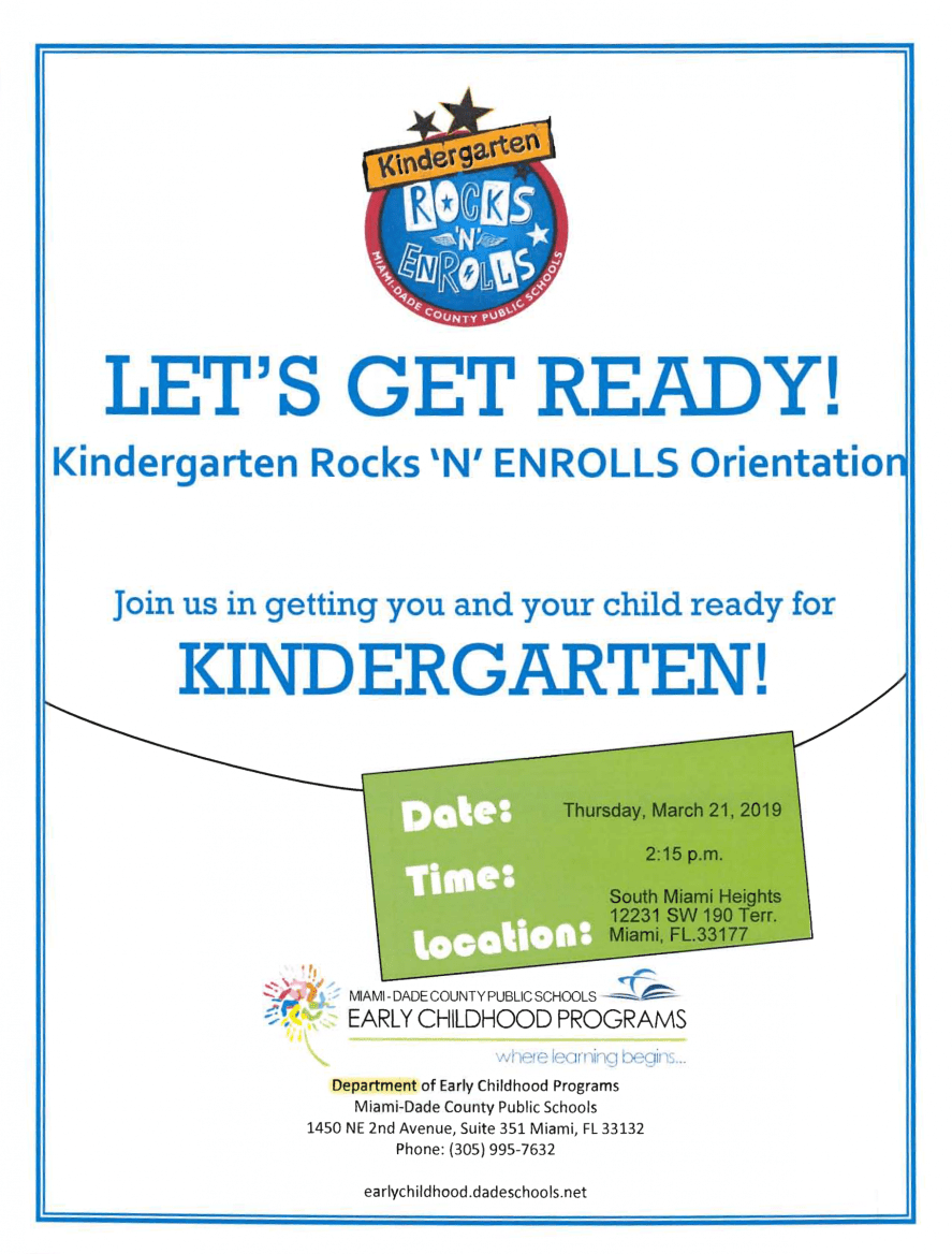Kindergarten Rocks Flyer Page 1