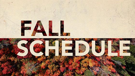 Women's Ministry Fall Calendar