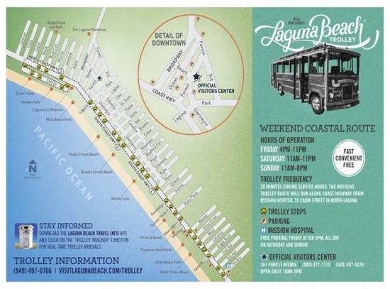 laguna beach trolley map