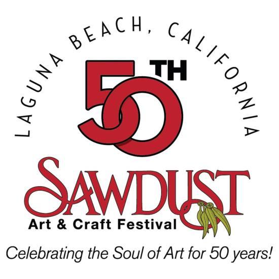 Laguna Beach Sawdust 50th Poster