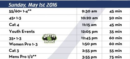 Dana Point Grand Prix May 1 2016 Schedule