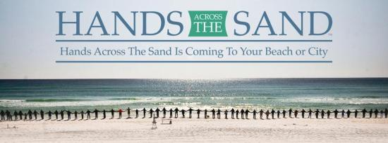 Hands Across The Sand Banner