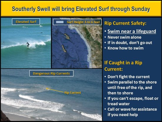 South OC Beaches Elevated Surf May 1 2016