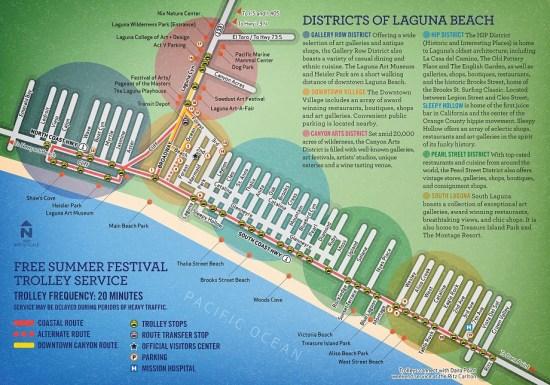 Laguna Beach Trolley Map Summer 2016