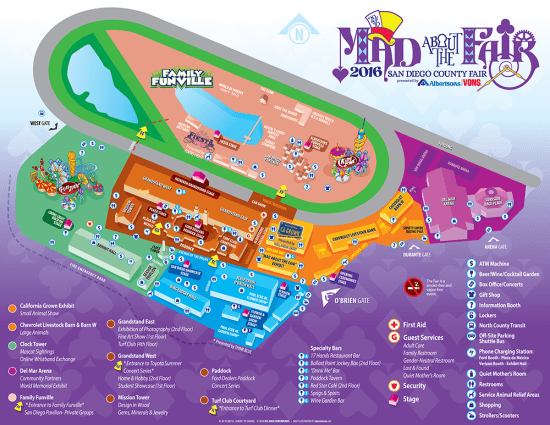 San Diego County Fair 2016 Map