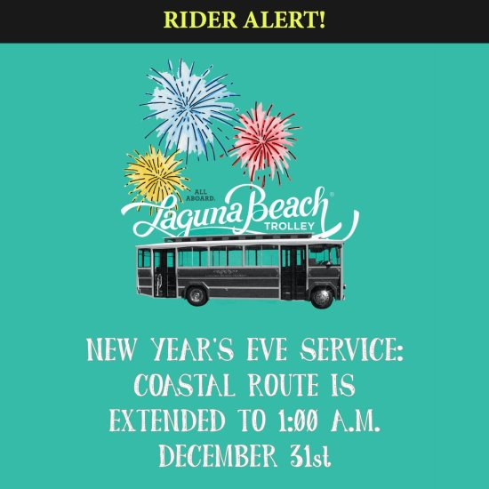 Laguna Beach Trolley New Years Eve Courtesy of LagunaBeachCity.net