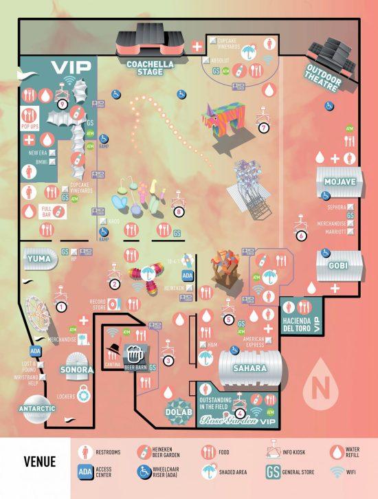 Coachella 2017 Venue Map