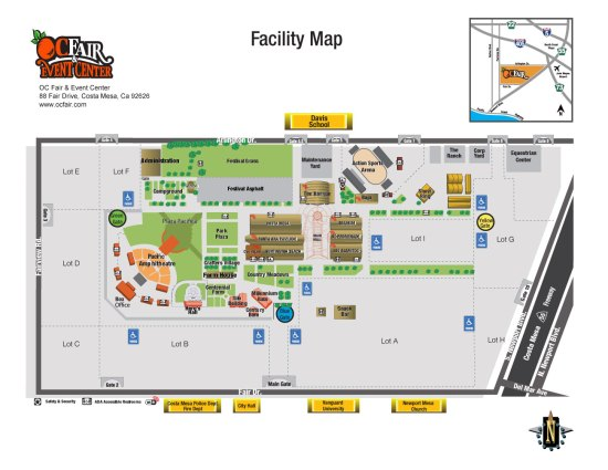 Oragne County Fair & Event Center Venue Map 2017