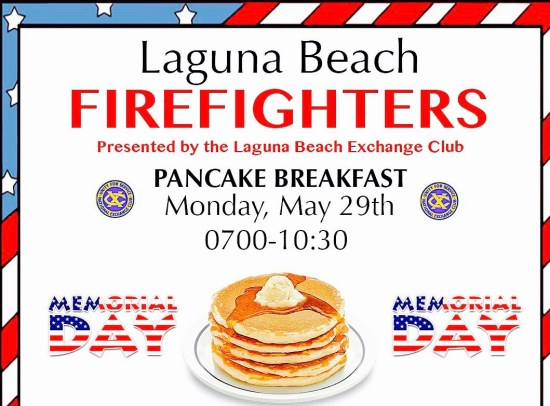Laguna Beach Memorial Day Pancake Breakfast May 29 2017