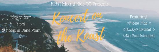 Kids Helping Kids Orange County Koncert on the Koast Hobie Surf Shop Dana Point CA May 13 2017