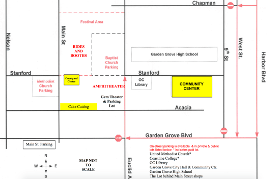 Straweberry Festival 2017 Location and Parking