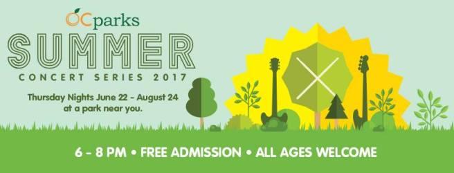 OC Parks Summer Concerts 2017