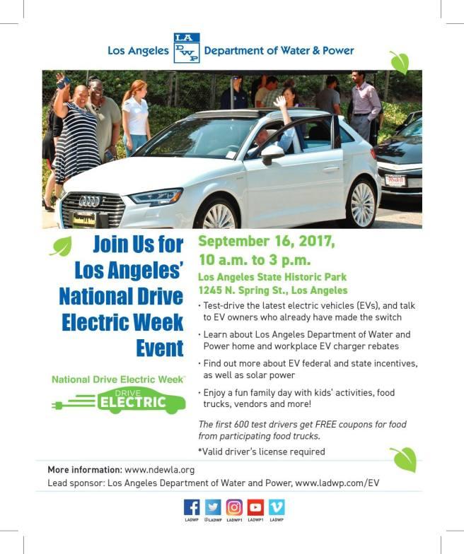 National Drive Electric Week Los Angeles September 16 2017
